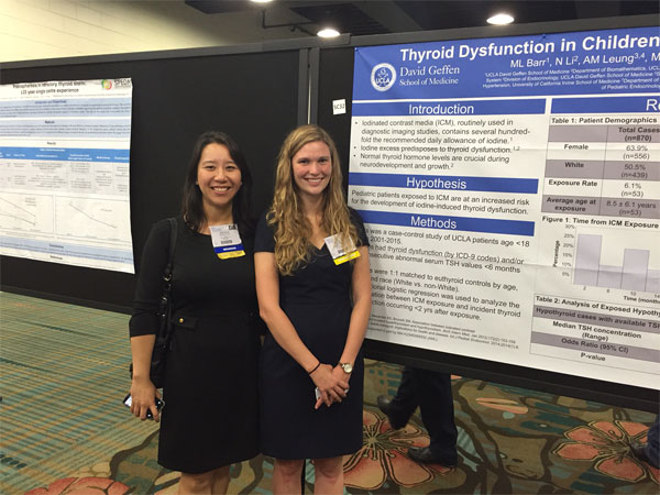 Dr. Angela Leung and student Meaghan Barr present posters
