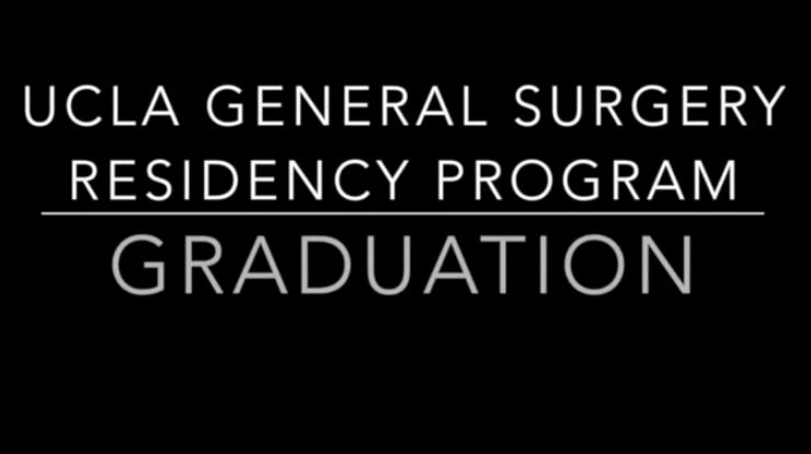 UCLA General Surgery Residency Graduation 2014