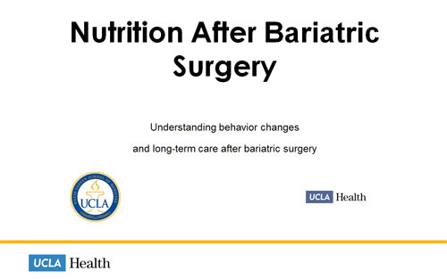 Nutrition Before Surgery