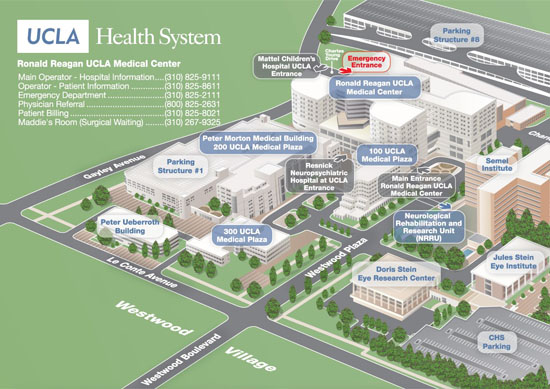 Maps/Directions | UCLA Department of Surgery